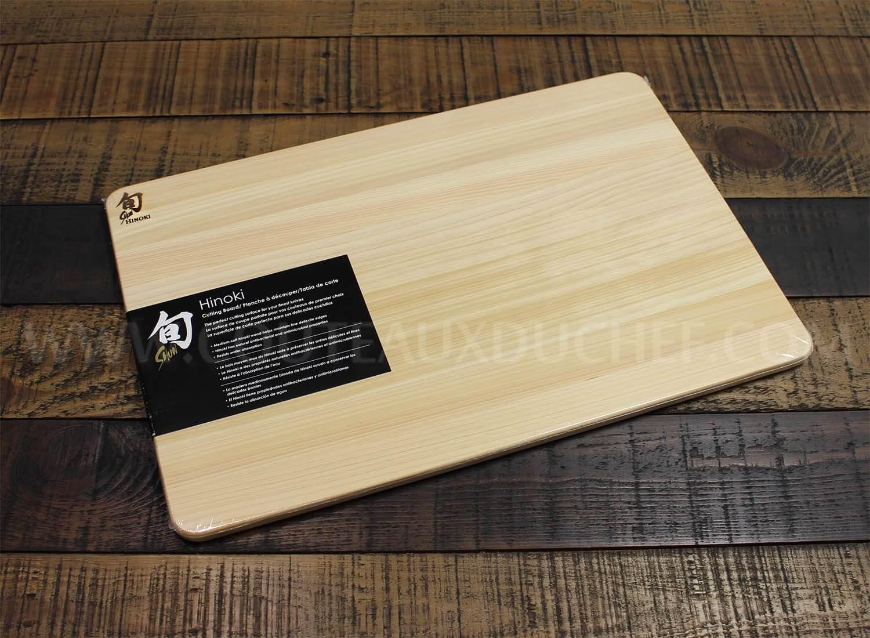 planche a decouper rectangulaire kai en hinoki japonais 40 5 x 27 5cm