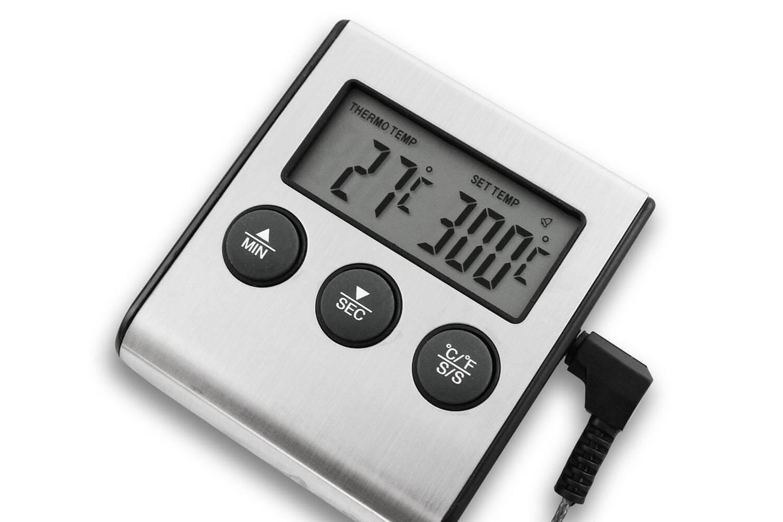 minuteur et thermometre digital de four alla france avec sonde inox