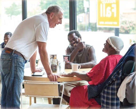 Chuck Briant has volunteered 266 hours at the Taste Project in Fort Worth, Texas, a pay-what-you-can restaurant.