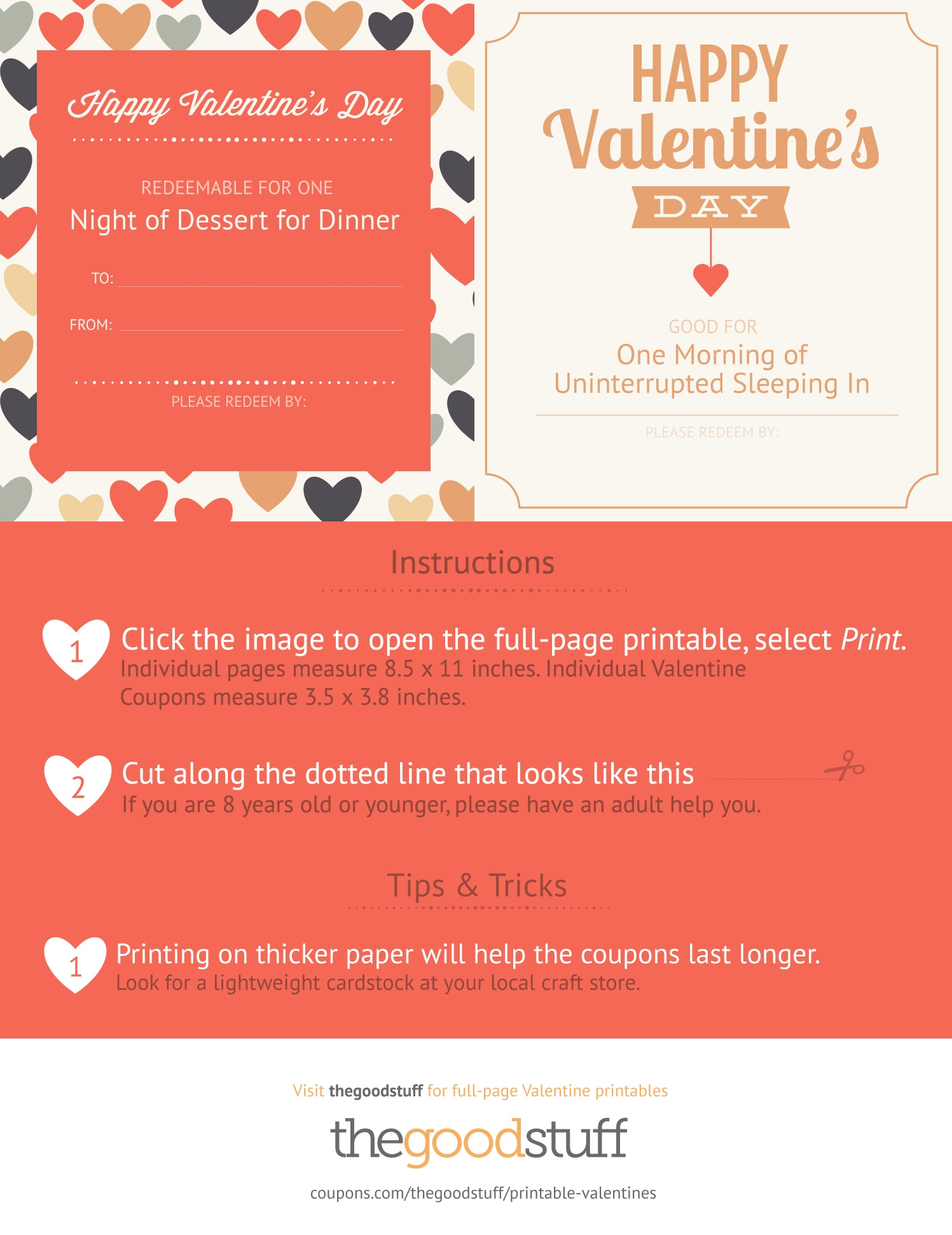 Exclusive Printable Valentine Coupons