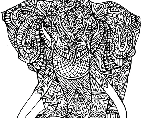 elephant coloring page printable free printable elephant coloring