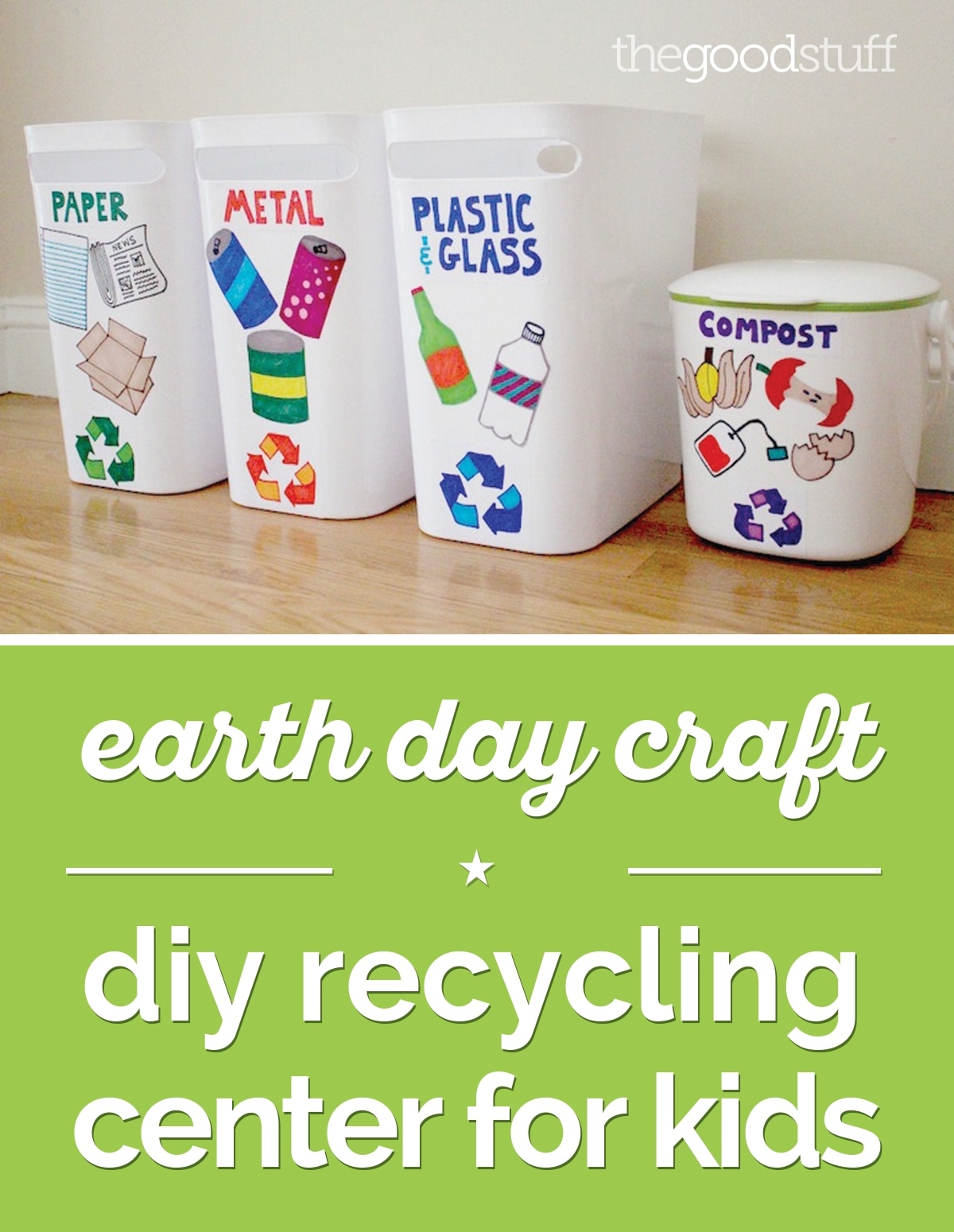 Earth Day Craft Diy Recycling Center For Kids