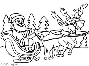 Cute Santa Printable Reindeer Cute Santa Printable Christmas Coloring Pages Novocom Top