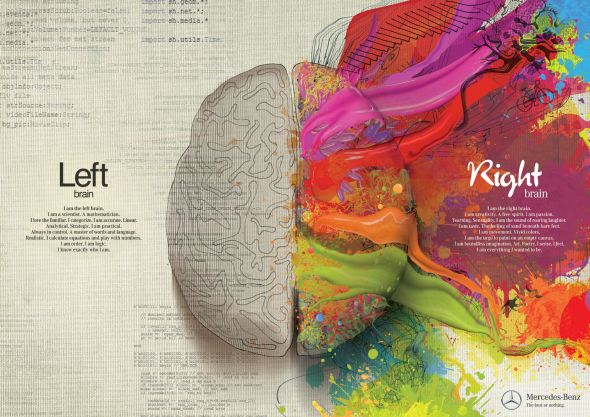 Mercedes Painting: whole brain creativity