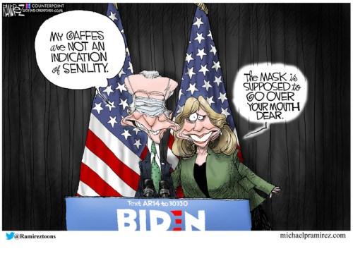 Jill Biden trying to coach Joe?