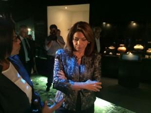 La presidenta Chinchilla ayer inauguró el Museo de Jade. CRH.