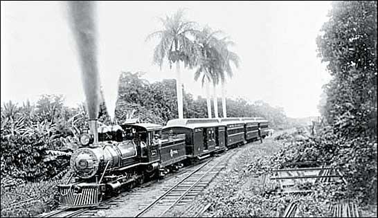 Más de 600 braseros chinos vinieron para la construcción del ferrocarril. La foto es del siglo XX.