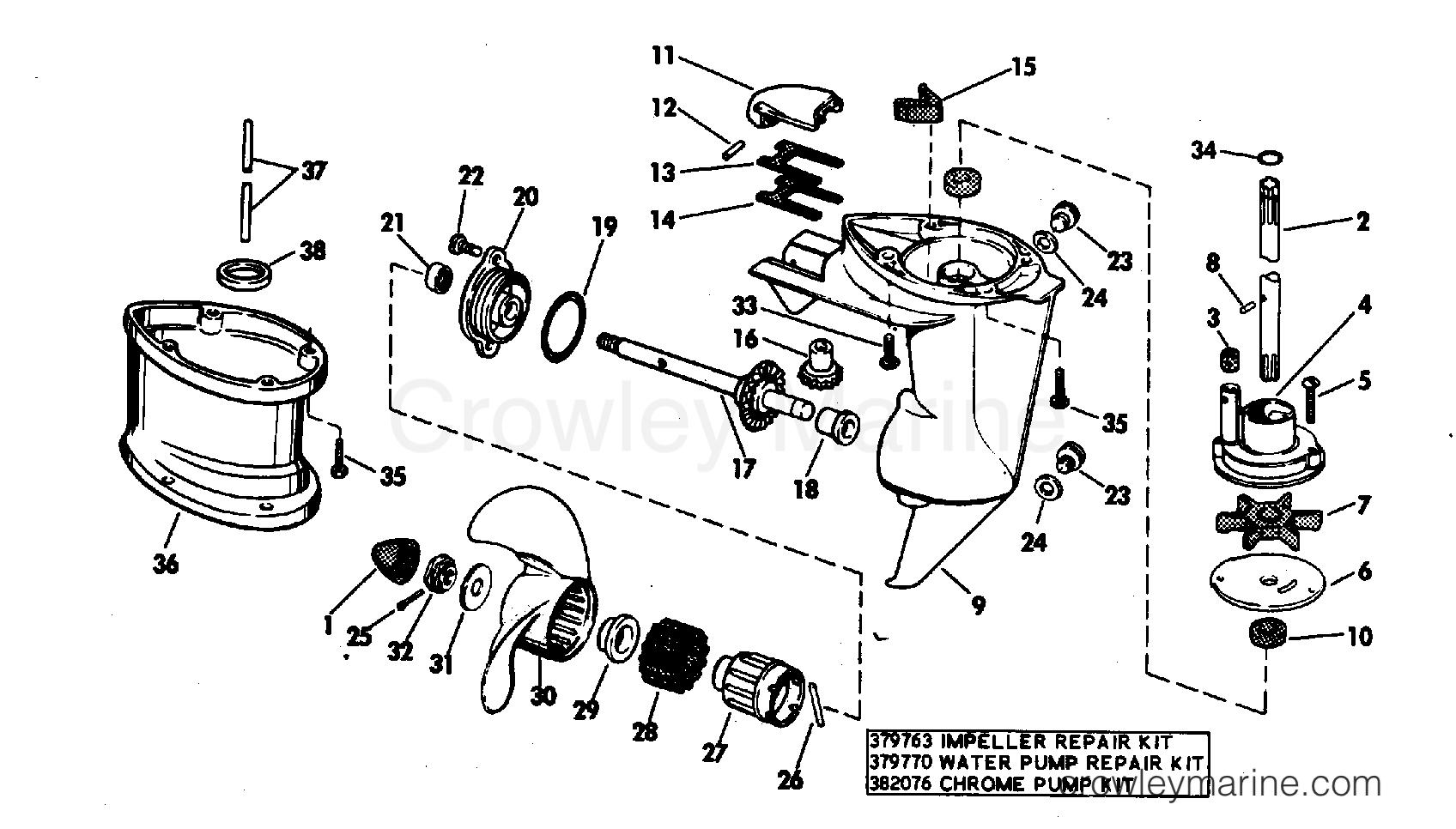 Gearcase Standard Drive