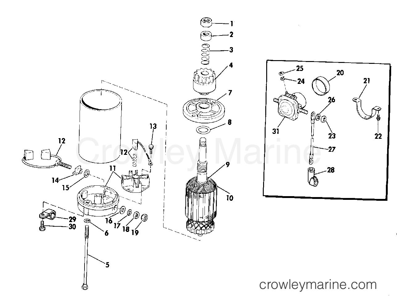 Electric Starter Amp Solenoid American Bosch M030sm
