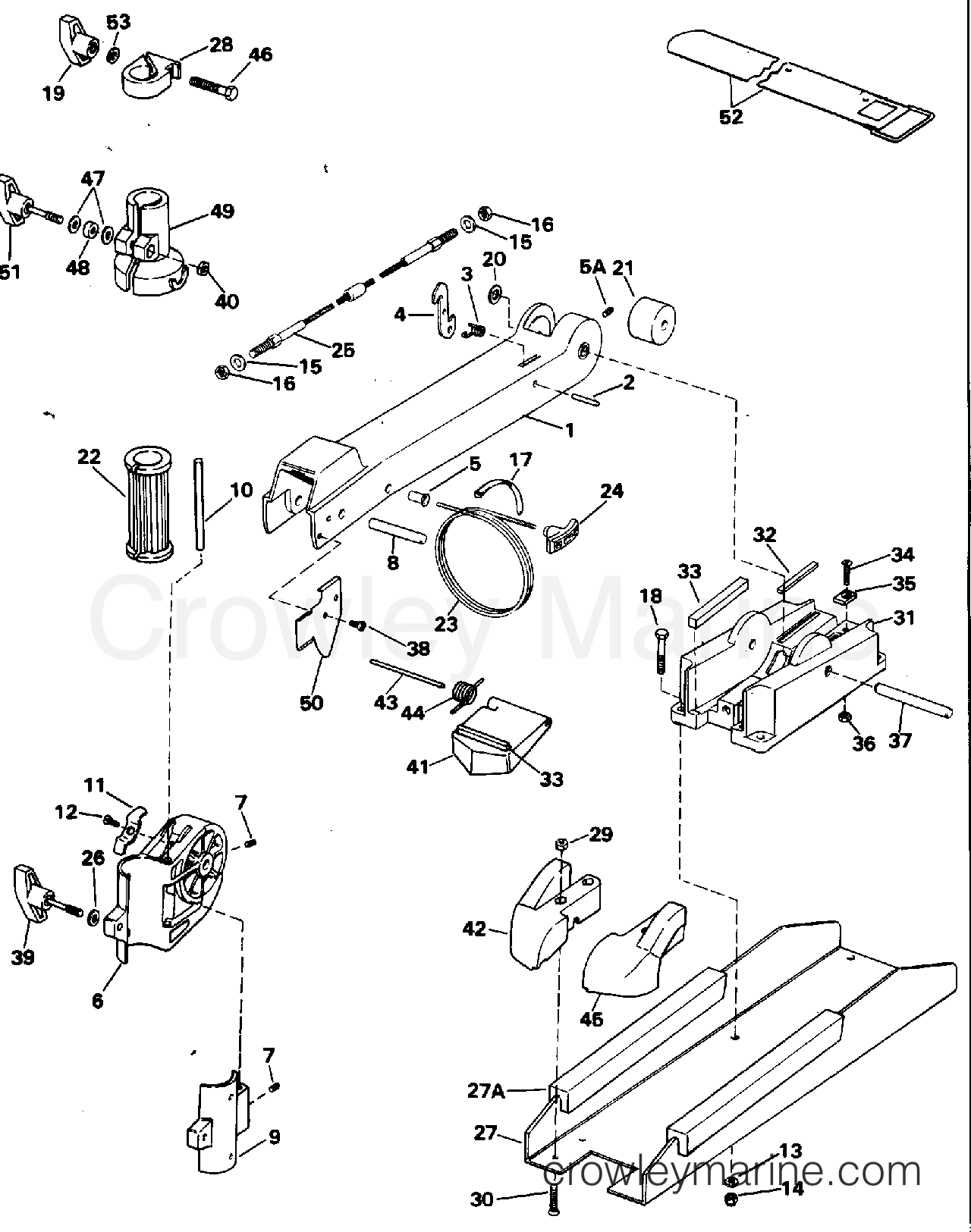 Bow Arm And Deck Bracket Group