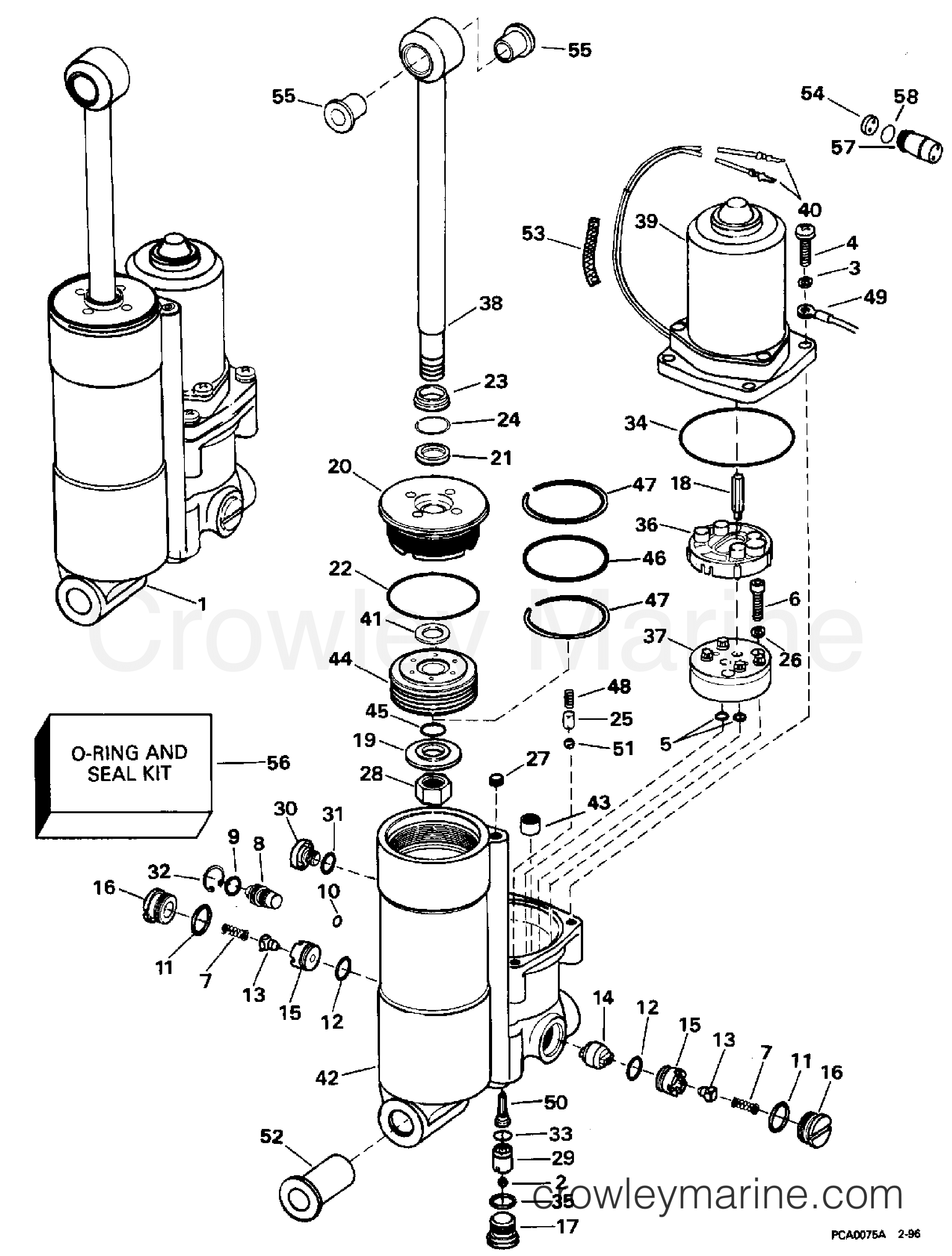Power trim tilt 1996 evinrude outboards 40 be40eeds crowley marine rh crowleymarine 25 hp johnson outboard diagram johnson boat wiring diagram
