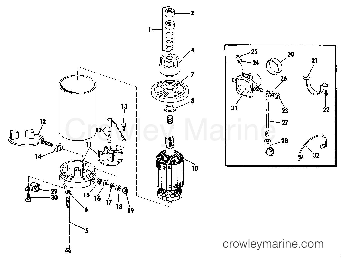 Electric Starter Amp Solenoid American Bosch No