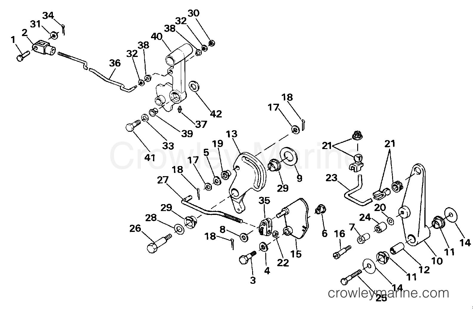 Shift Amp Throttle Linkage Tiller Electric Rope Models