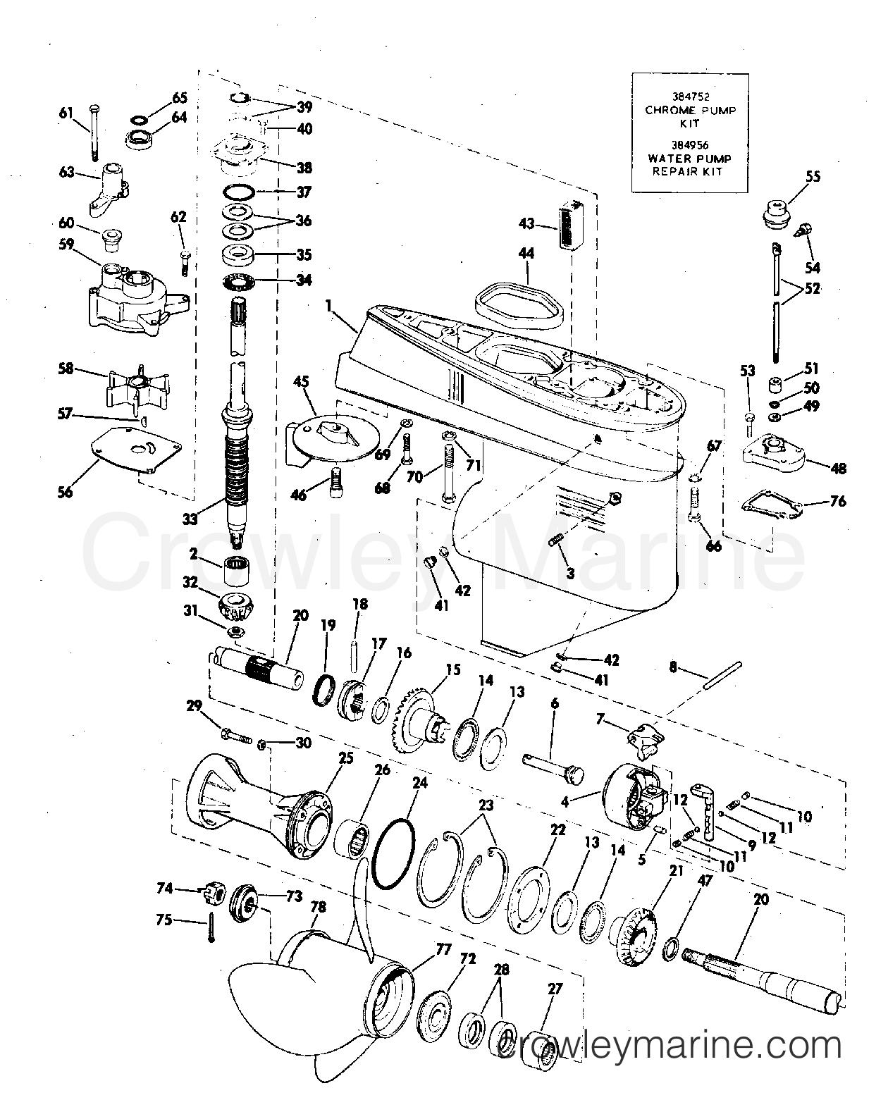 Gearcase 50 Hp Manual Start