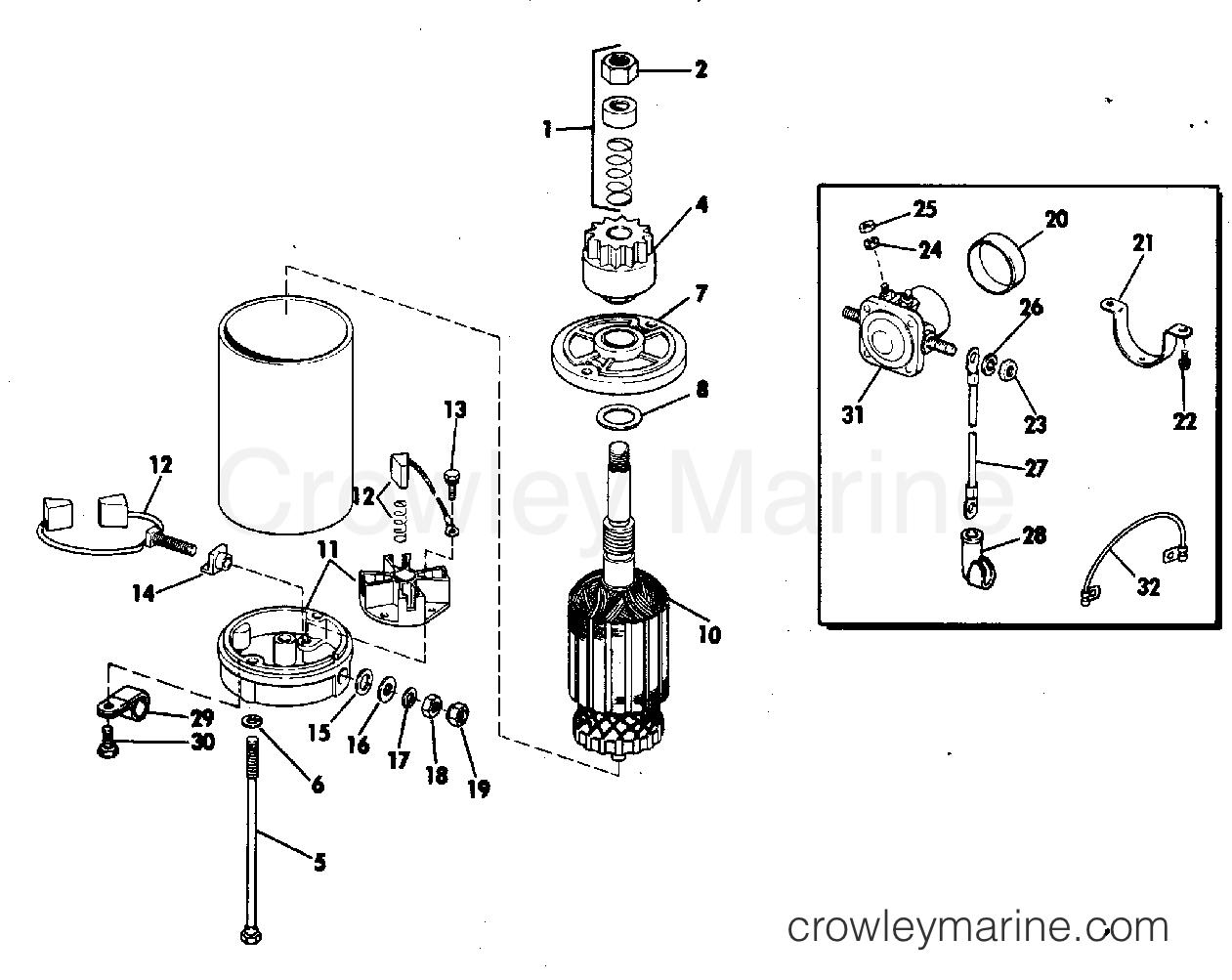 Electric Starter Amp Solenoid American Bosch No Mo30sm