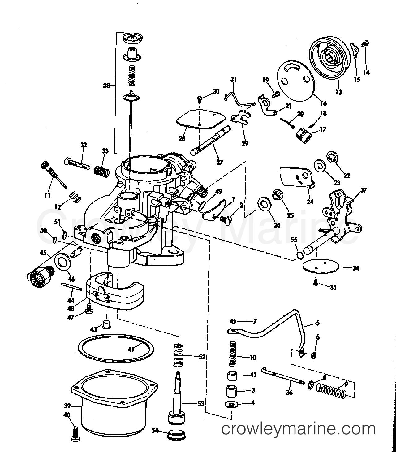 Carburetor Group 100 Hp Stern Drive
