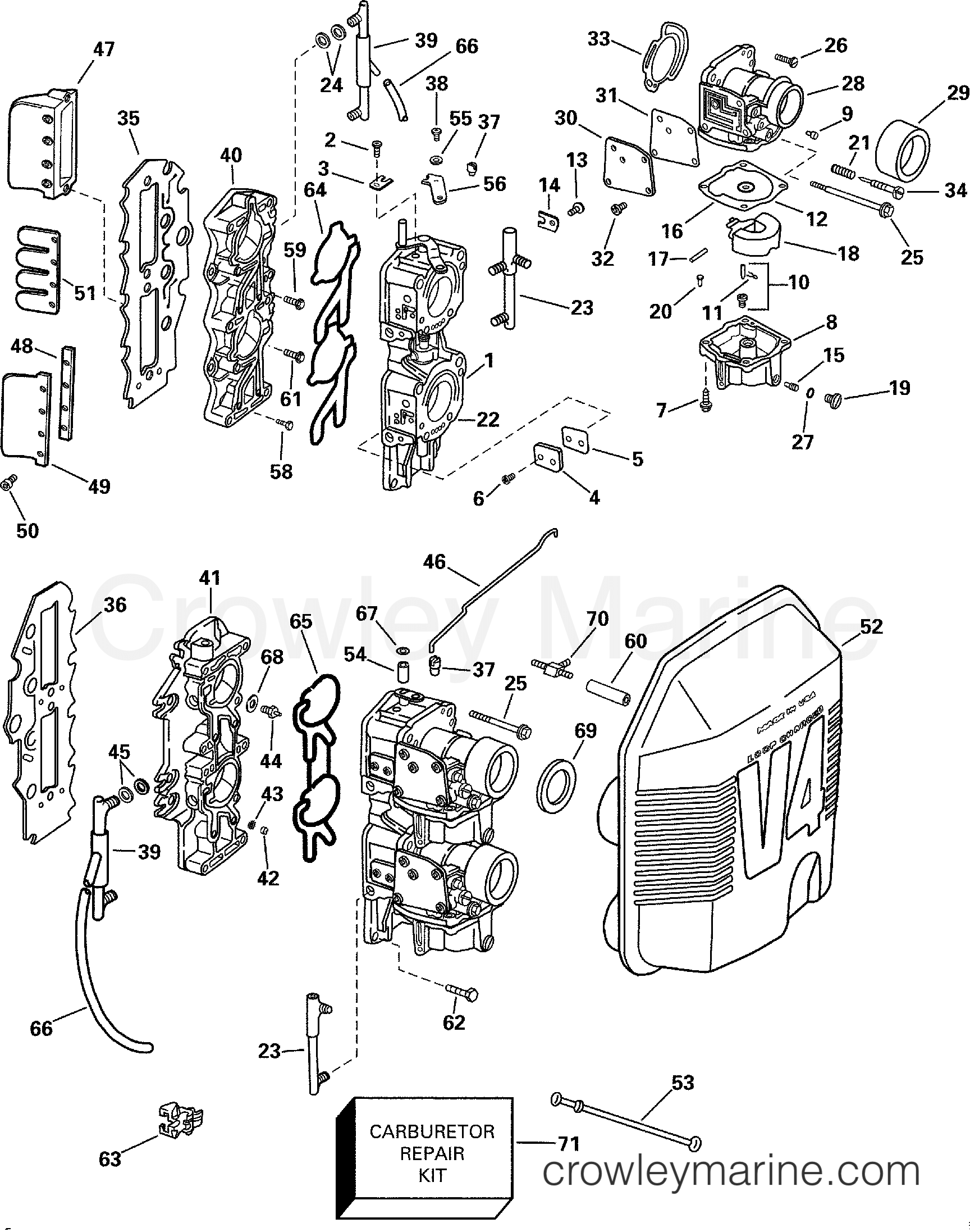 Carburetor And Intake Manifold