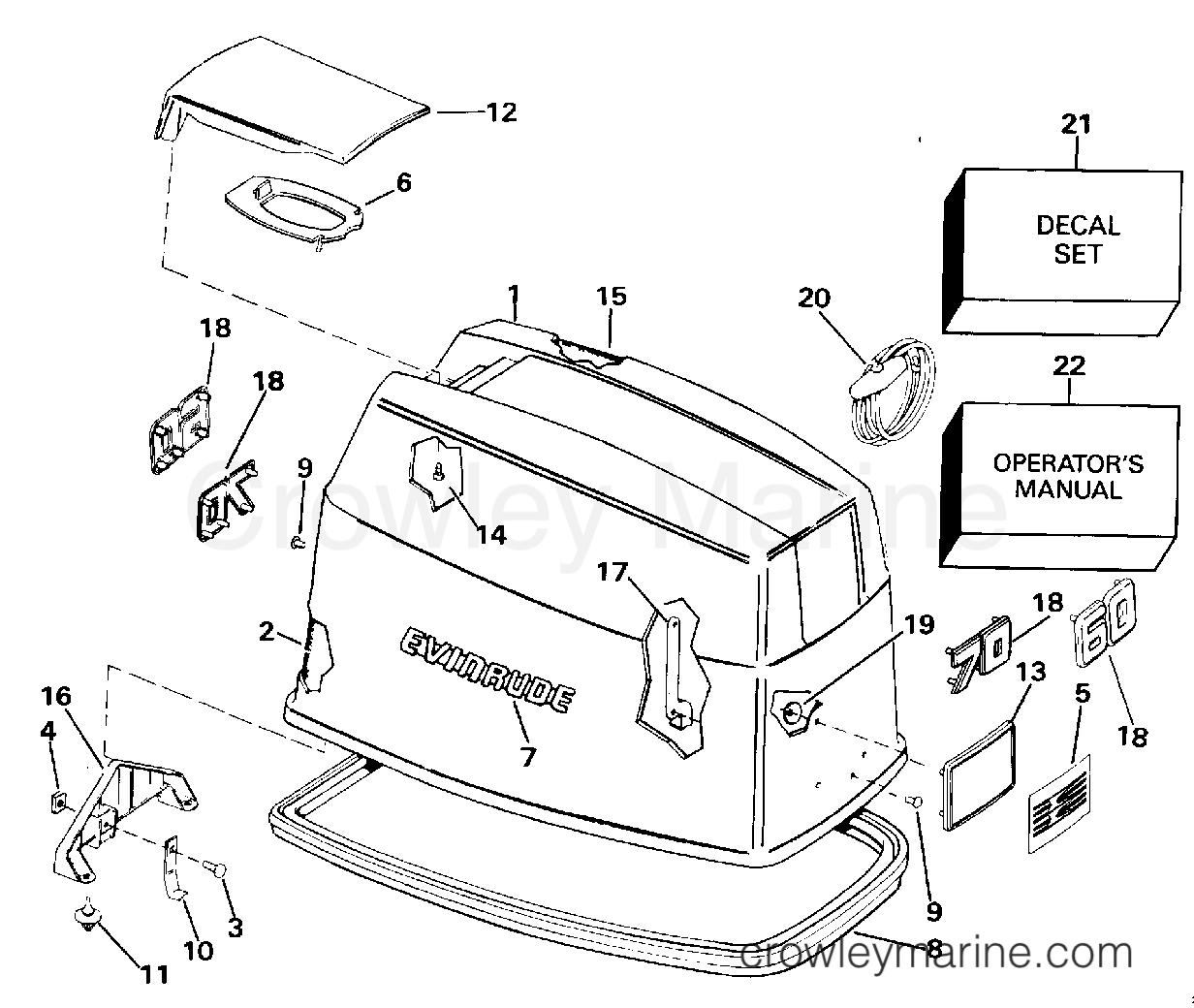 Engine Cover Evinrude