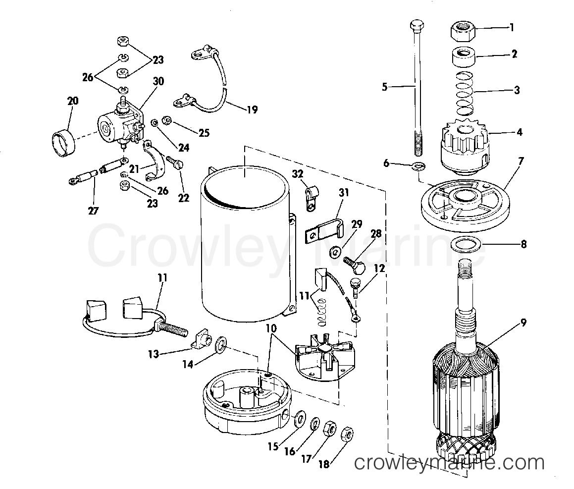 Electric Starter Amp Solenoid American Bosch 23 M030sm