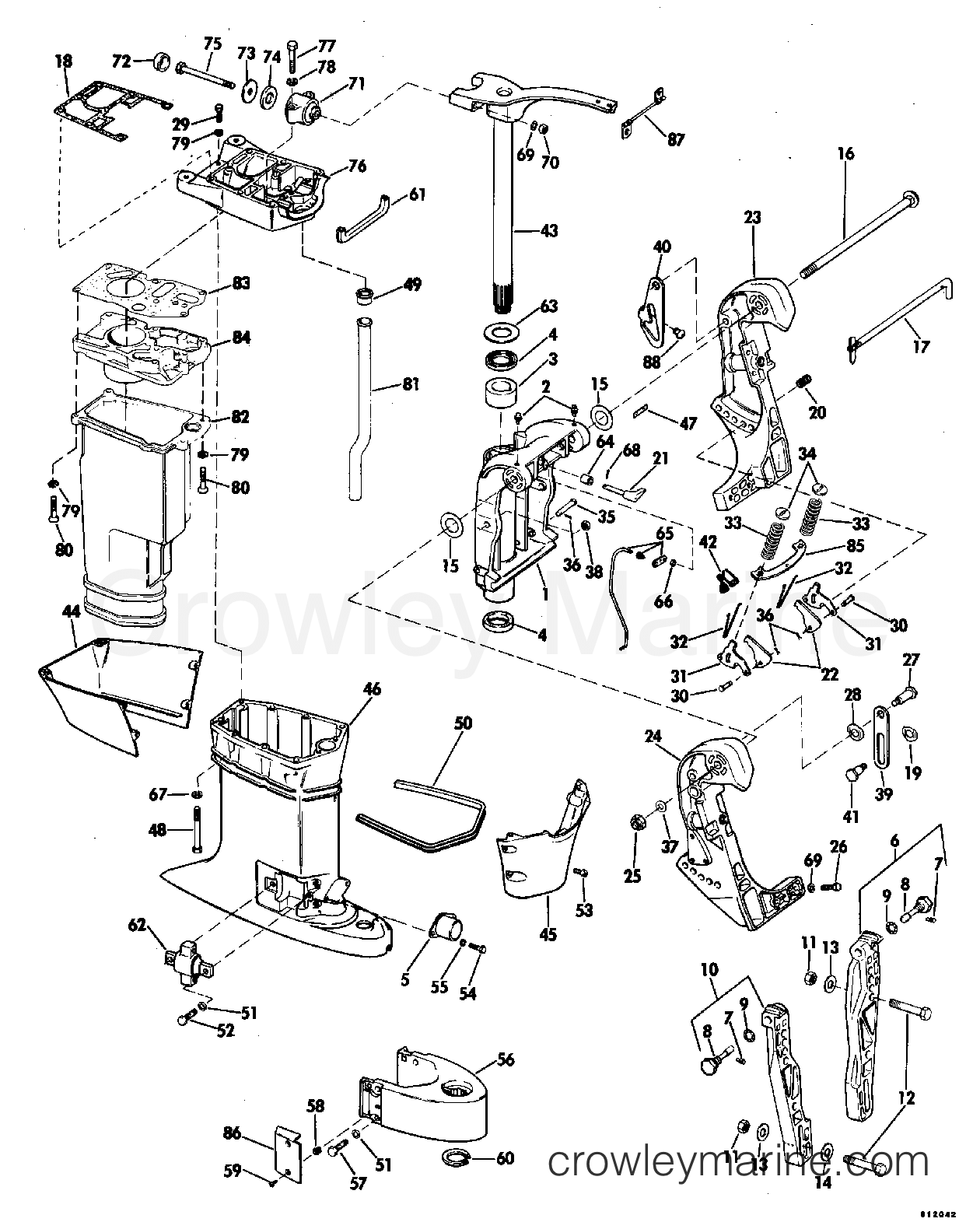 Exhaust Housing 15 Transom