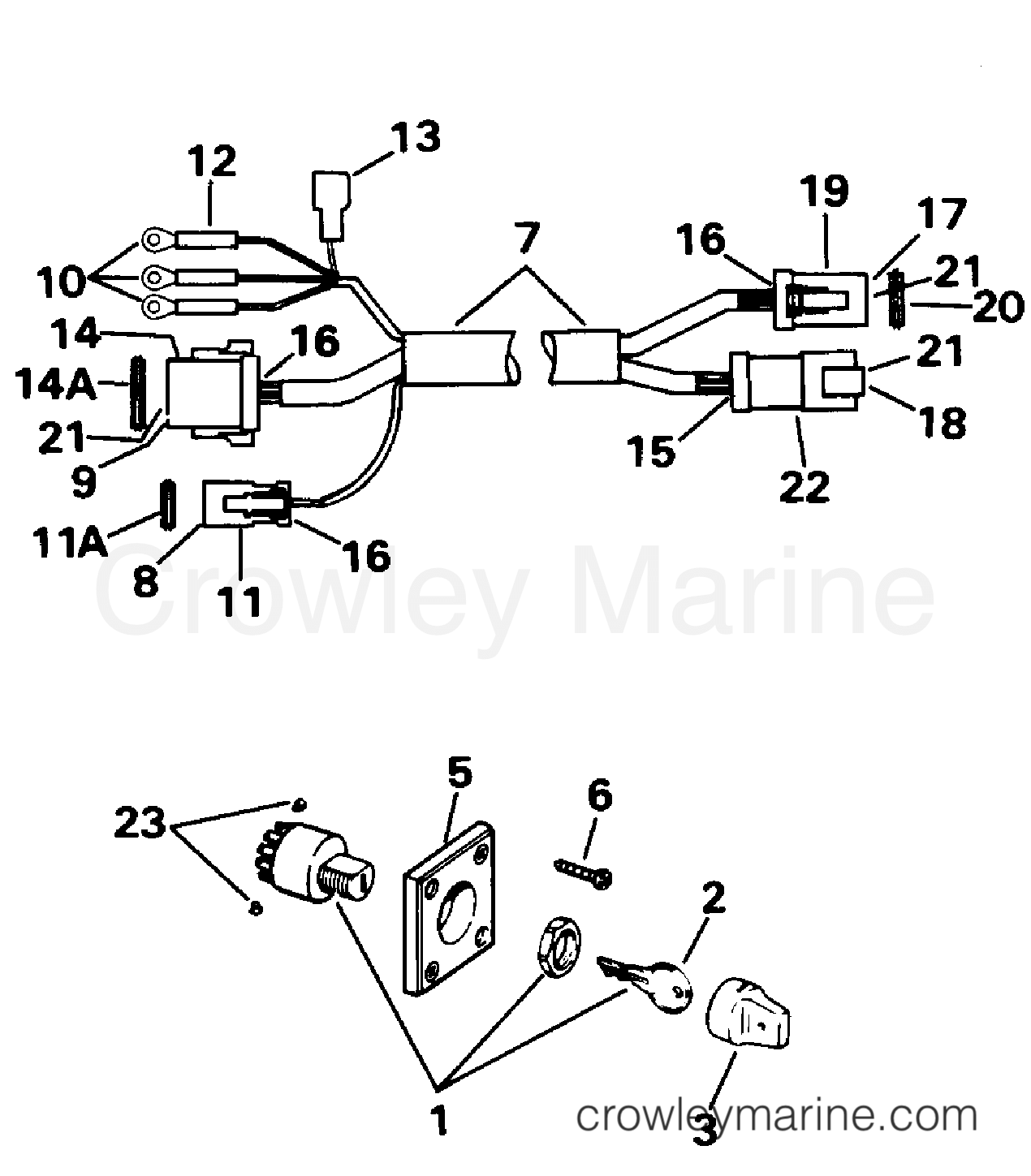 Ignition Switch Amp Cable