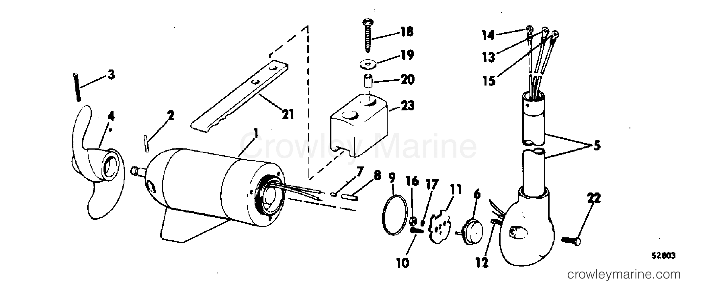 Motor And Adapter Group 12 Volt Bow Mount