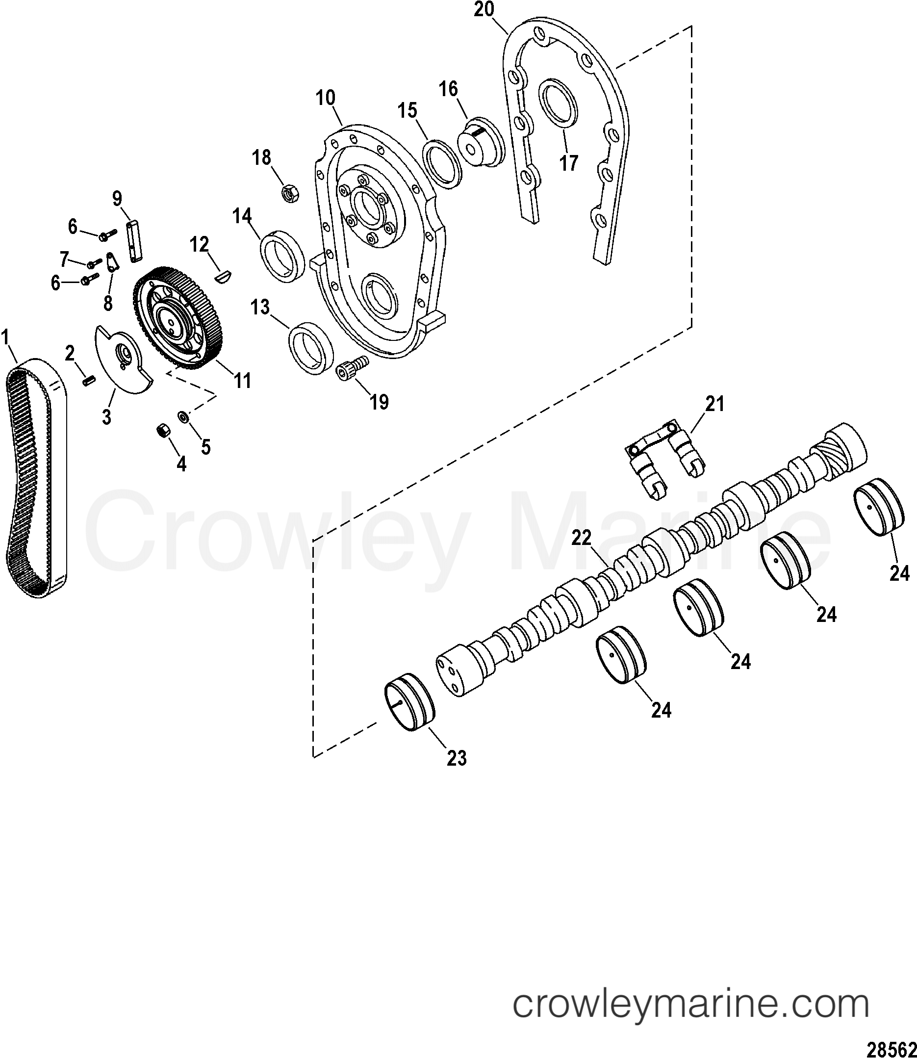 Engine Components Front Cover And Camshaft