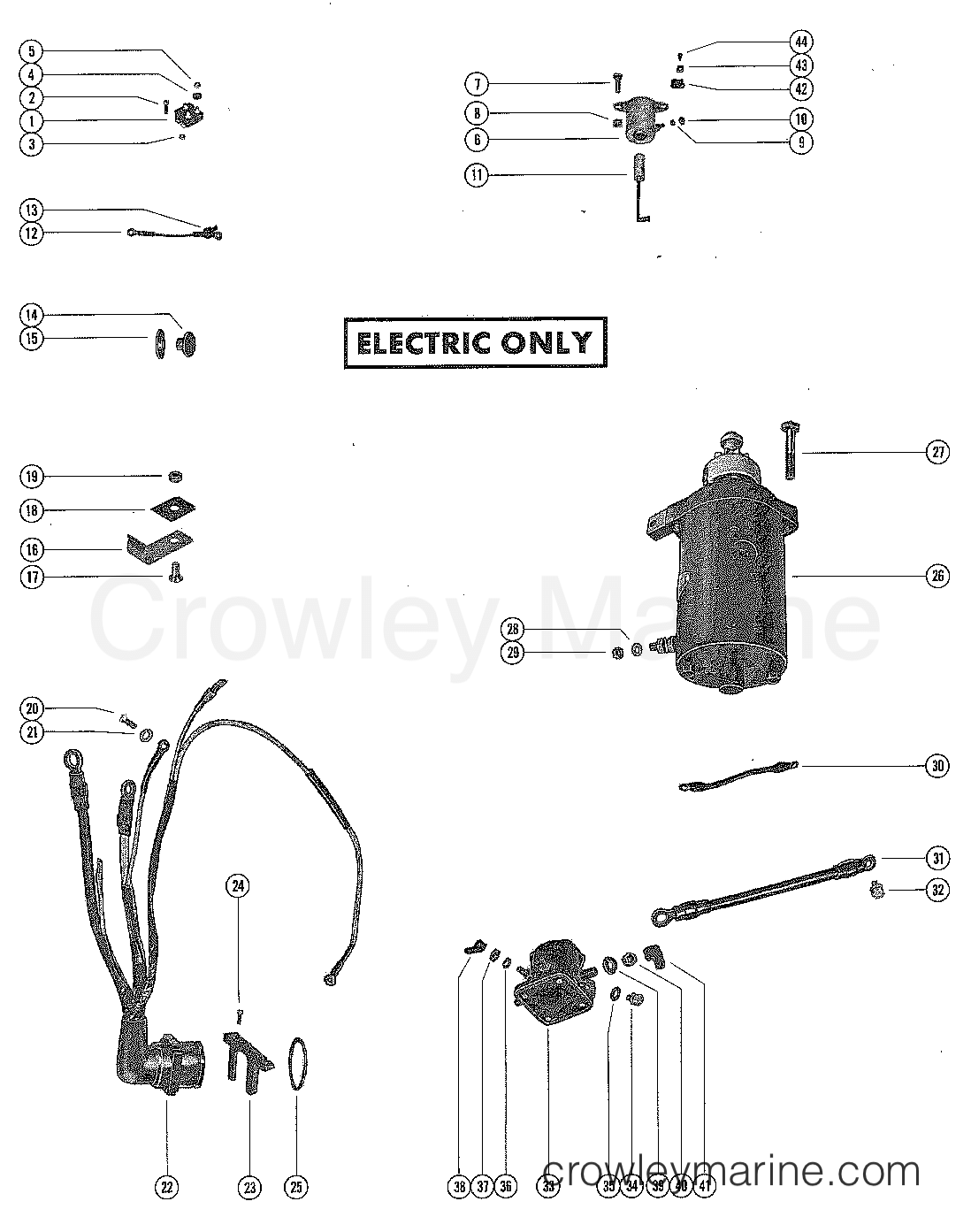 Starter Motor Rectifier And Wiring Harness