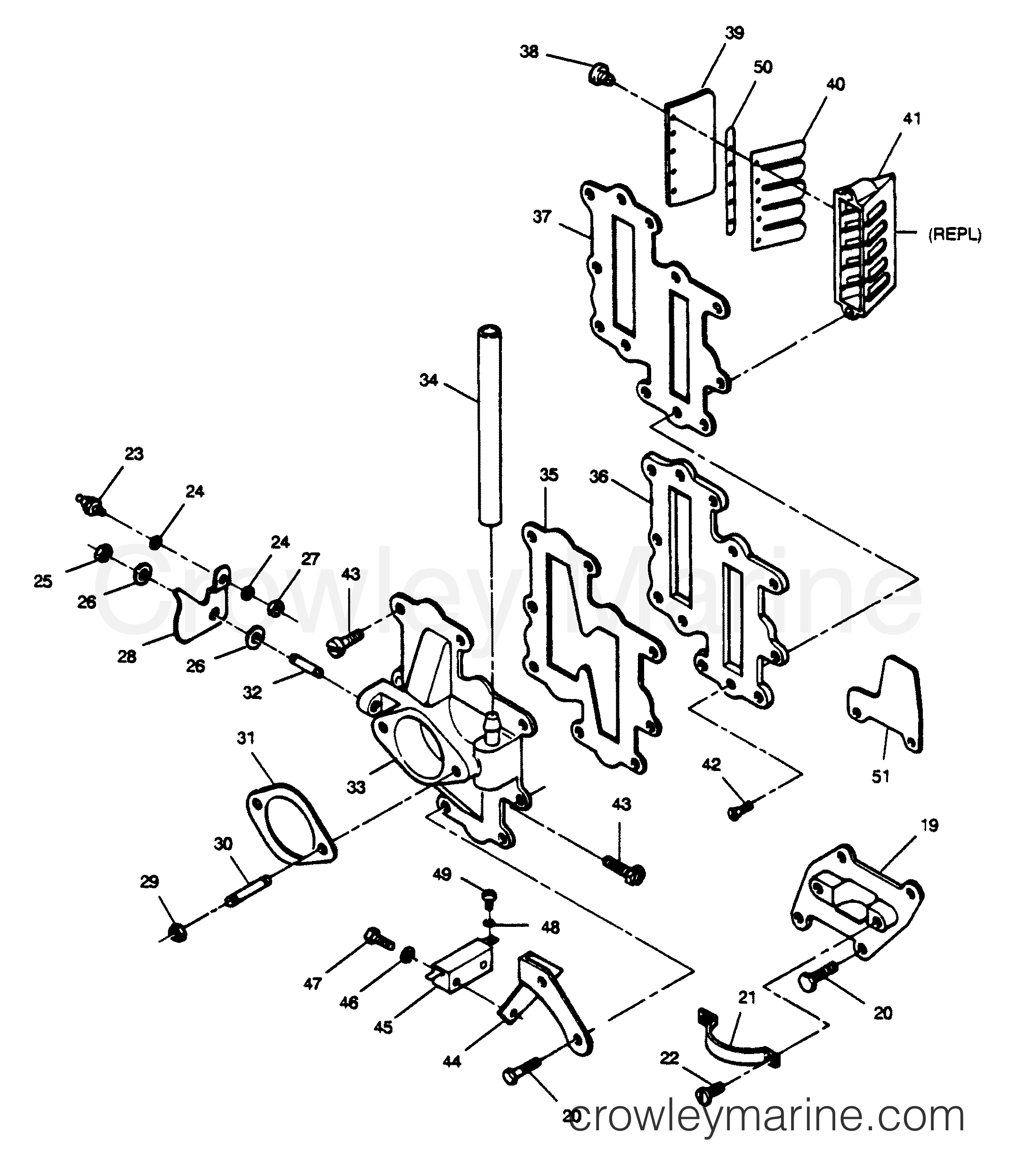 Adapter And Reed Plate