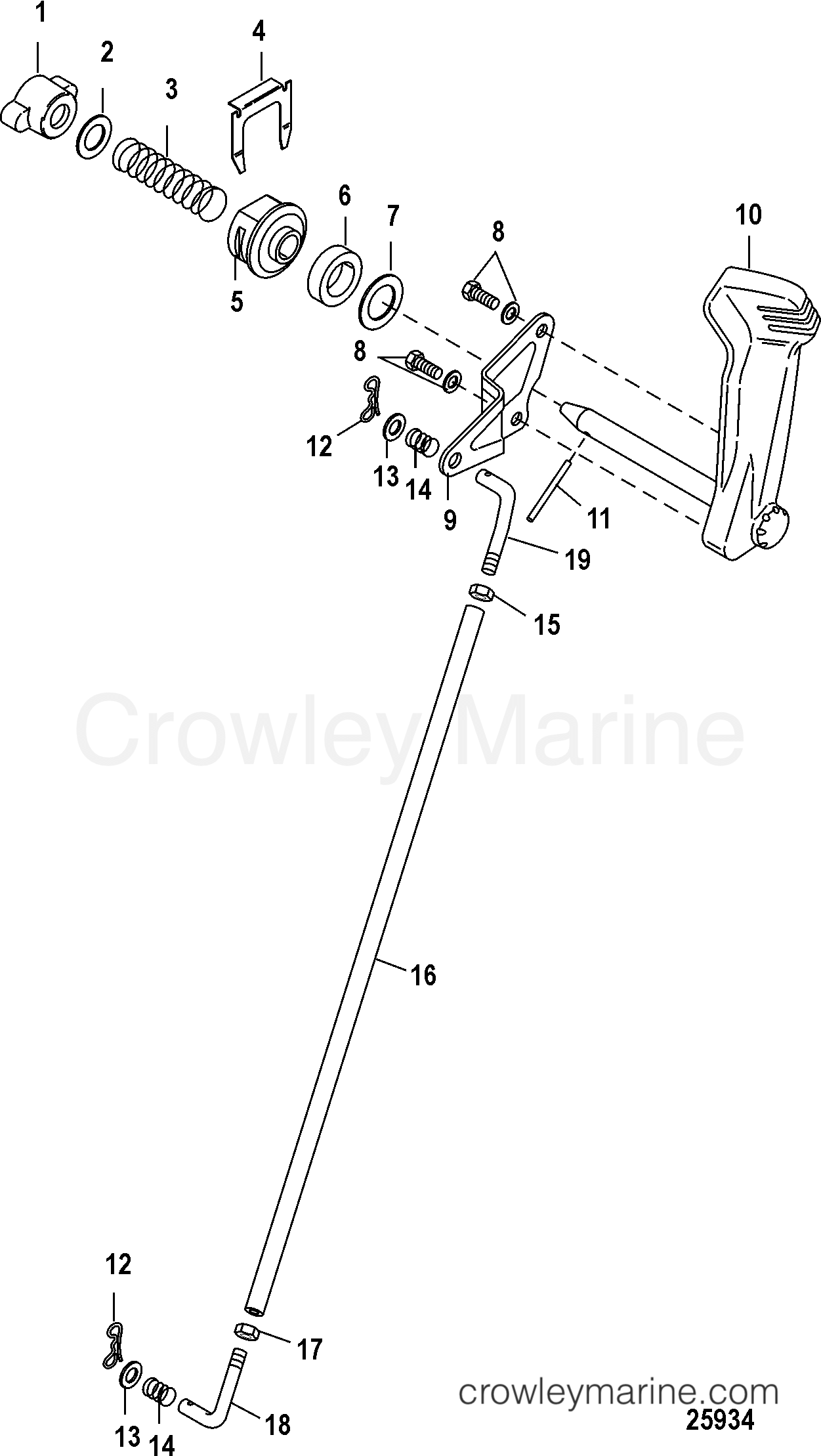 Shift Linkage Jet Tiller Handle