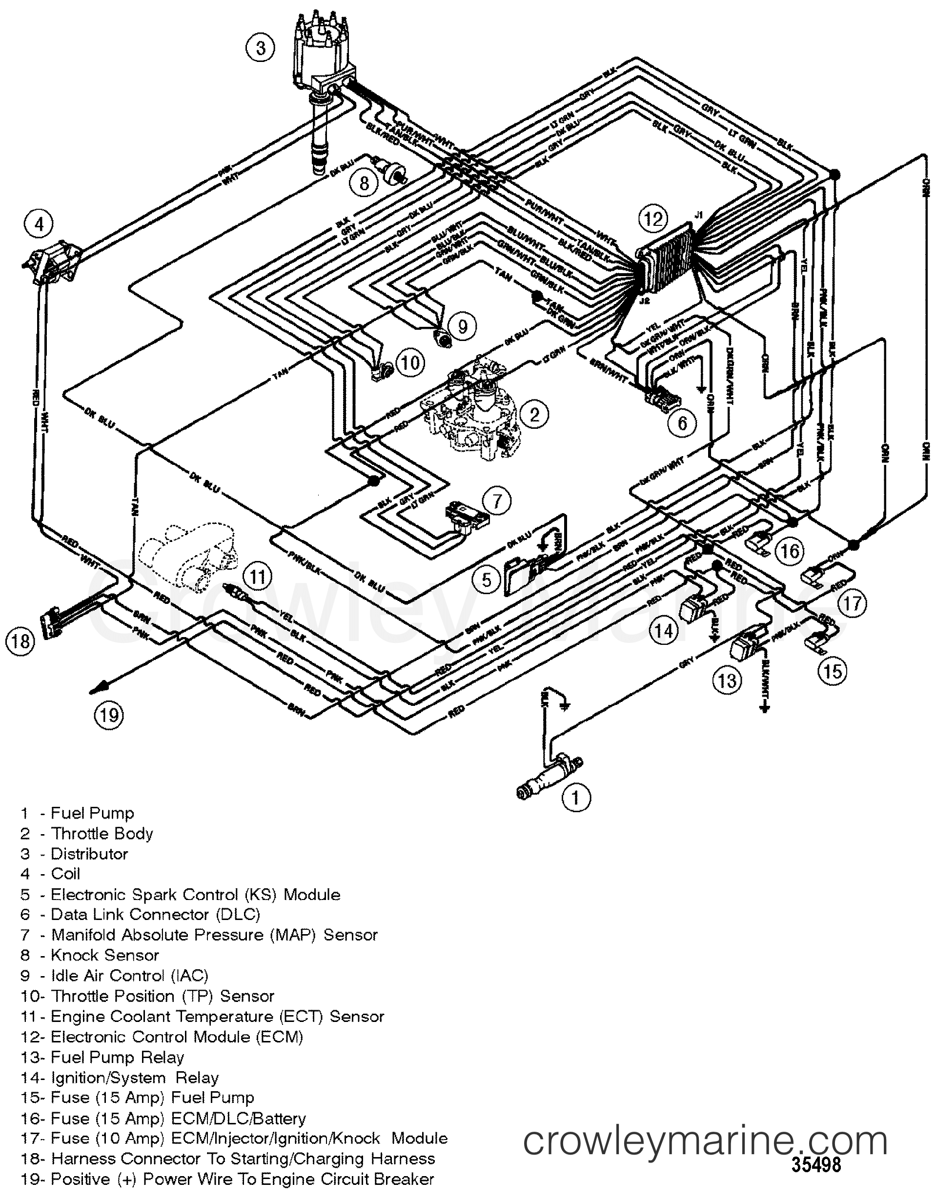 mercruiser engine wiring diagram wire center u2022 rh masinisa co 4.3 Mercruiser Parts Diagram 1986 Mercruiser 4 3 Engine Wiring