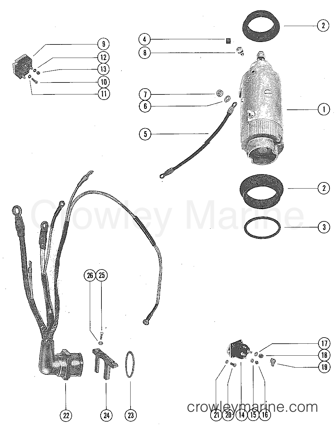Starter Motor And Wiring Harness