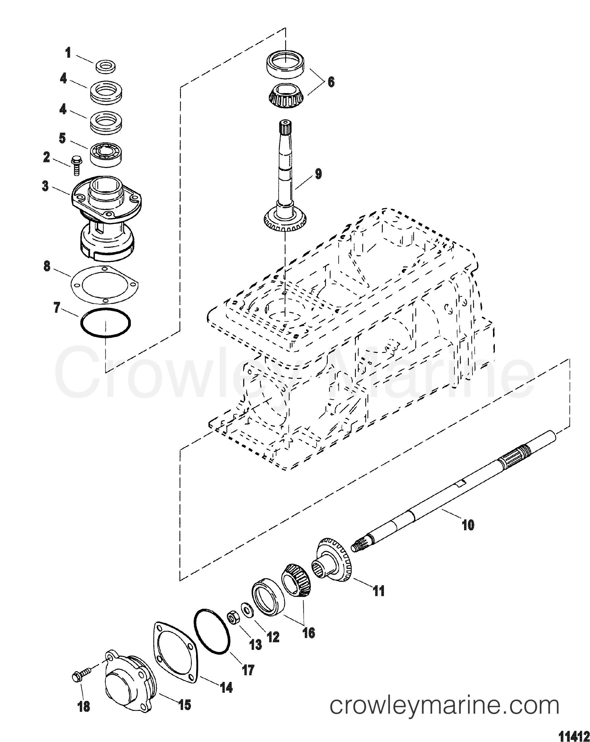 Pinion And Impeller Shaft All Models