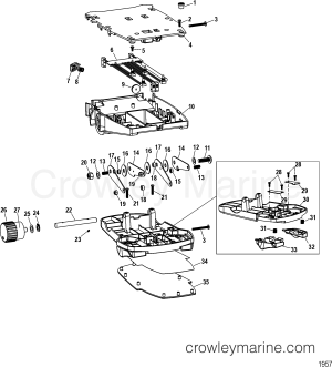 FOOT PEDAL ASSEMBLY(M0099101)  1995 MotorGuide 12V