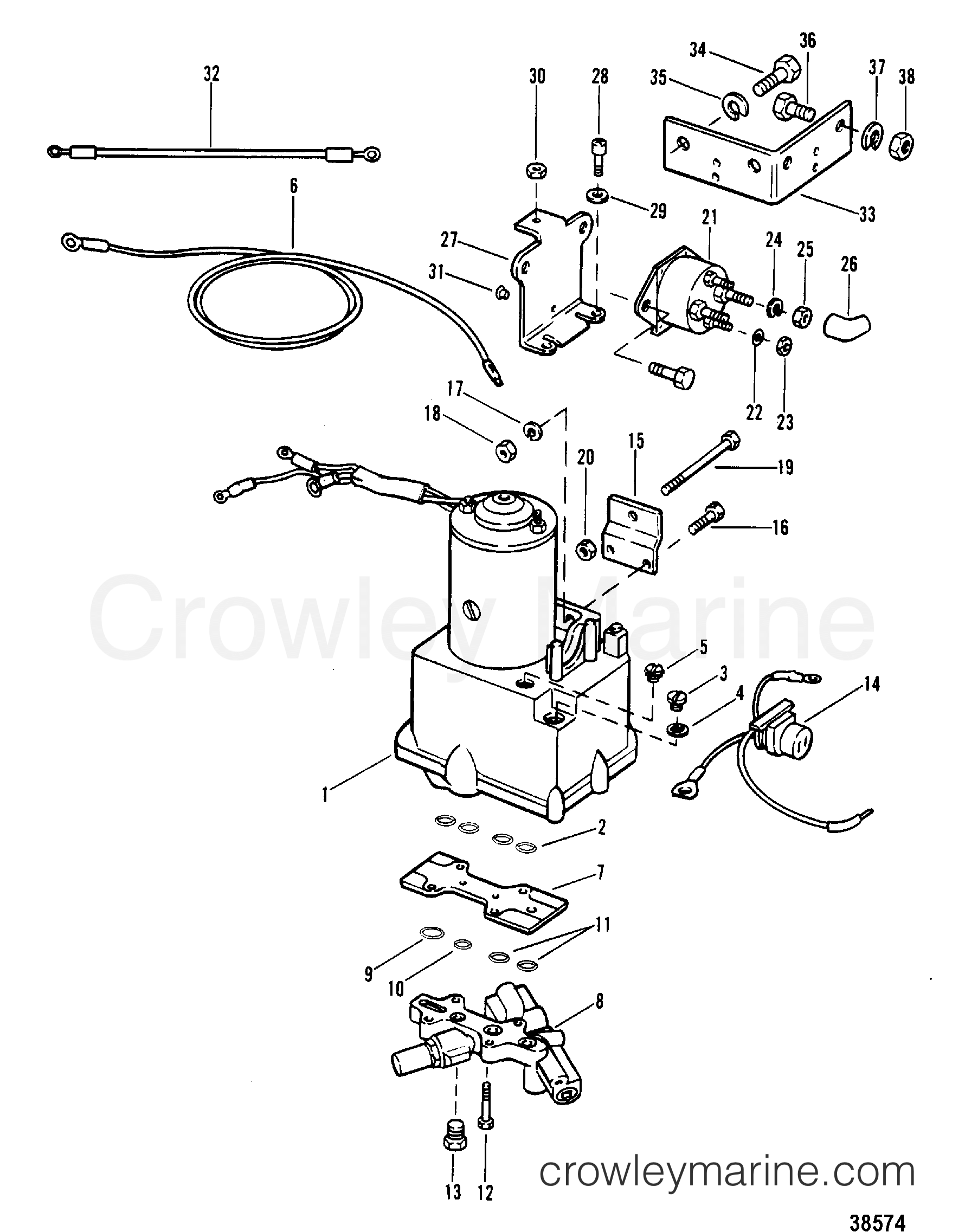 Power Trim Components Without Circuit Breaker And Fuse
