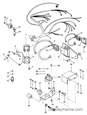 WIRING HARNESS AND ELECTRICAL COMPONENTS  1993 Mercury