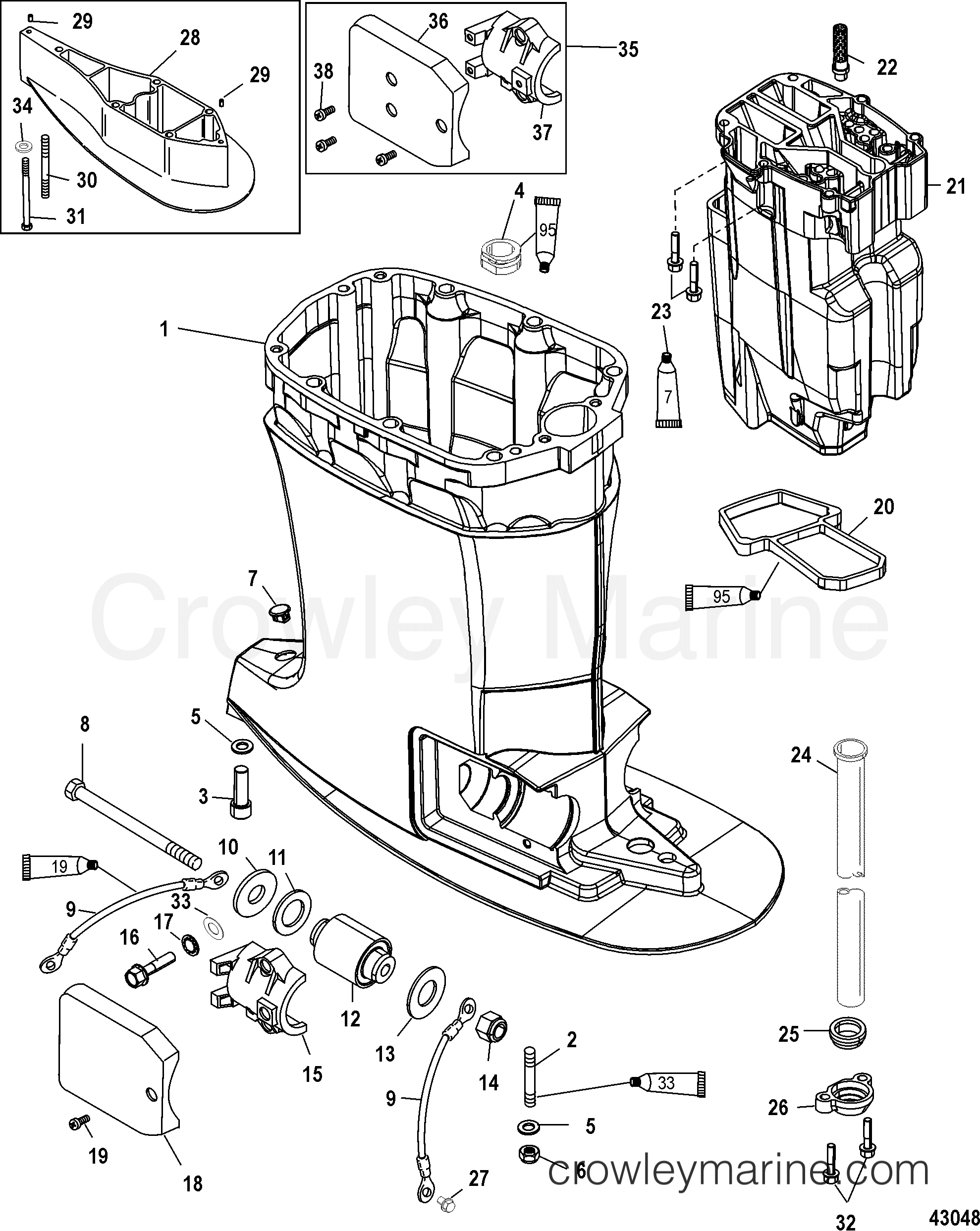 Driveshaft Housing And Exhaust Tube