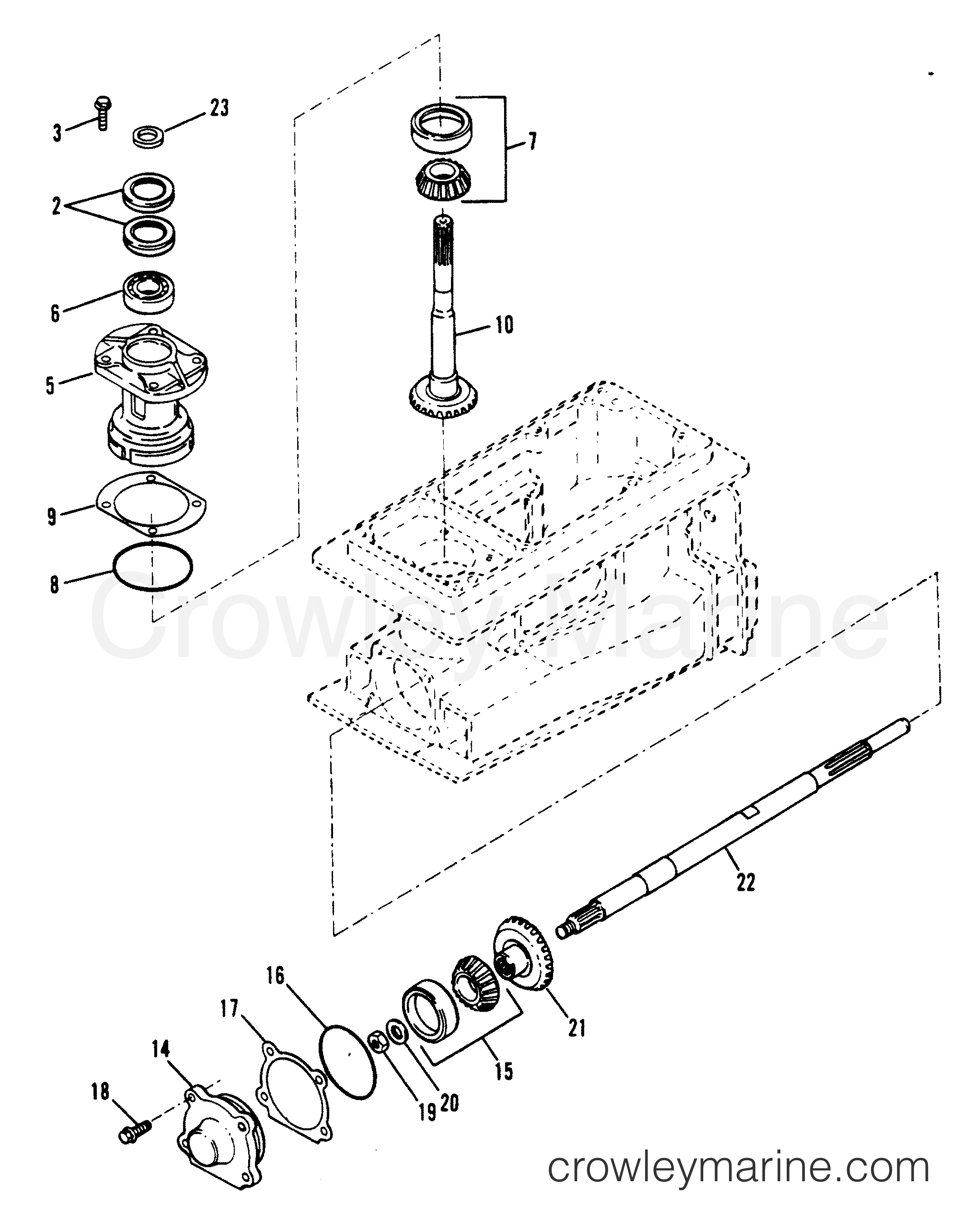 Pinion And Impeller Shaft Splined Drive