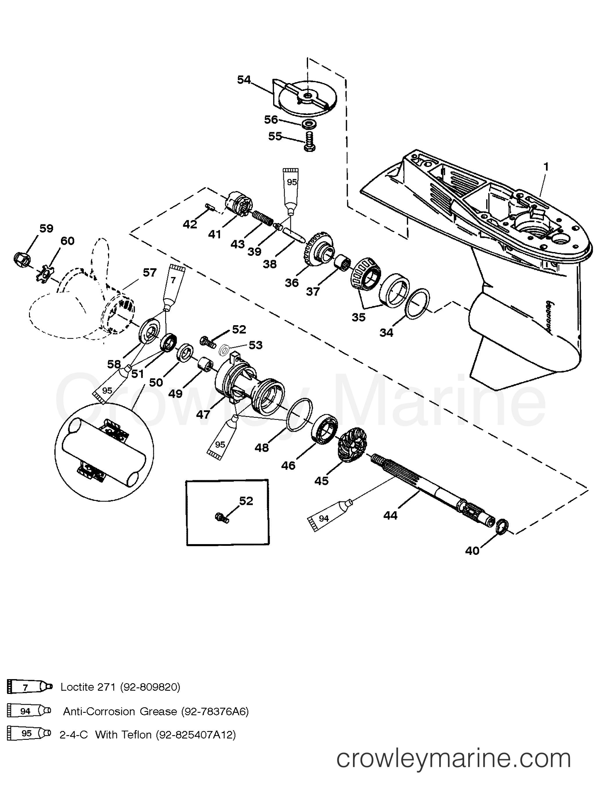 Gear Housing Propeller Shaft 50 55 60