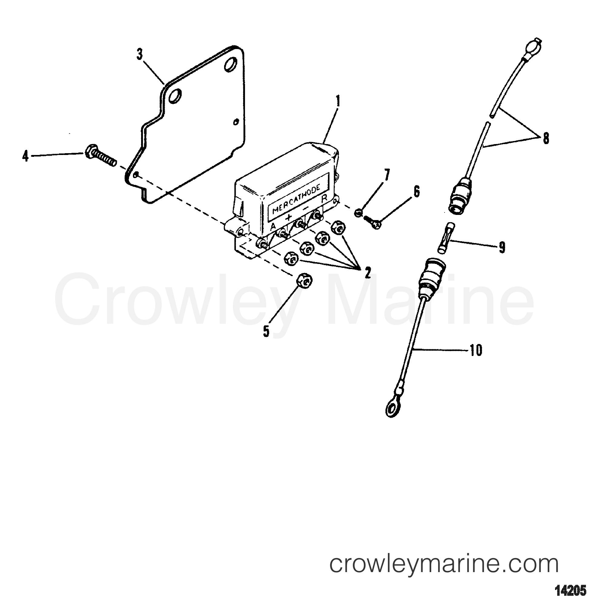 Mercathode Stern Drive