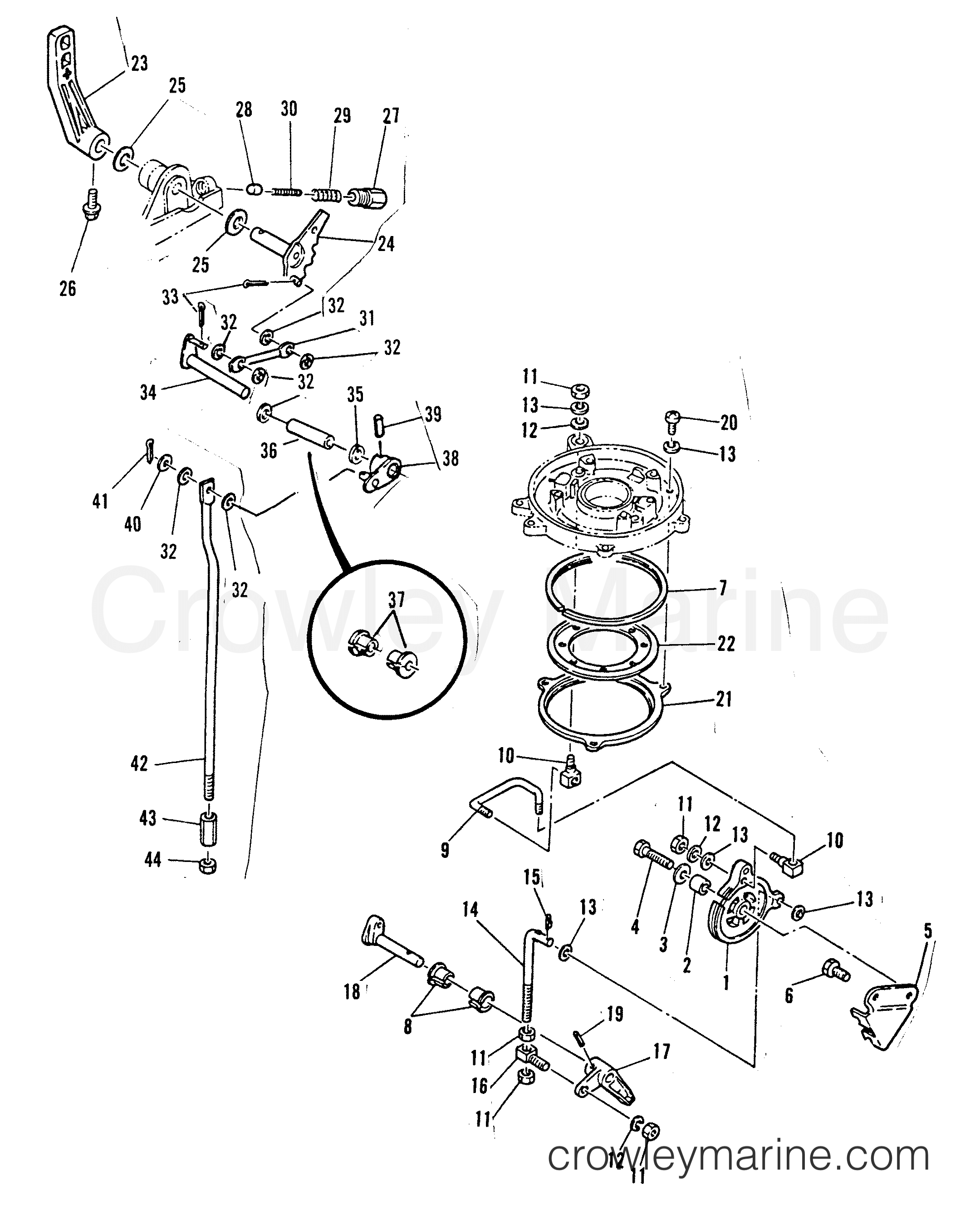 Throttle Control Gear Shift Linkage