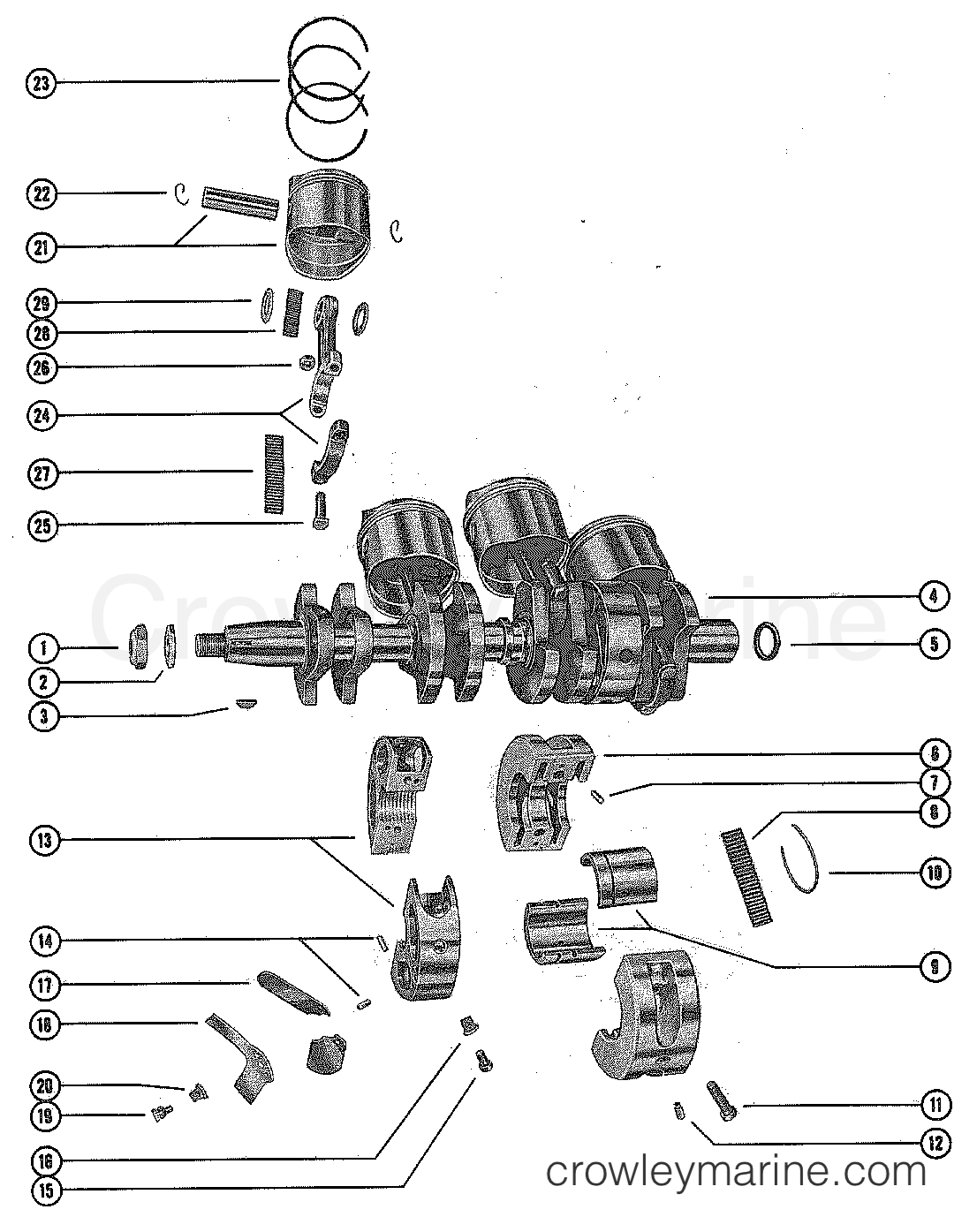 Crankshaft Piston And Connecting Rod