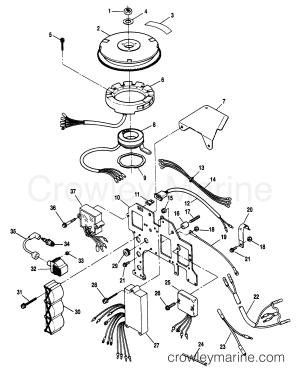 IGNITION COMPONENTS  1995 SportJet 90 [JETPUMP] H62SP205D | Crowley Marine