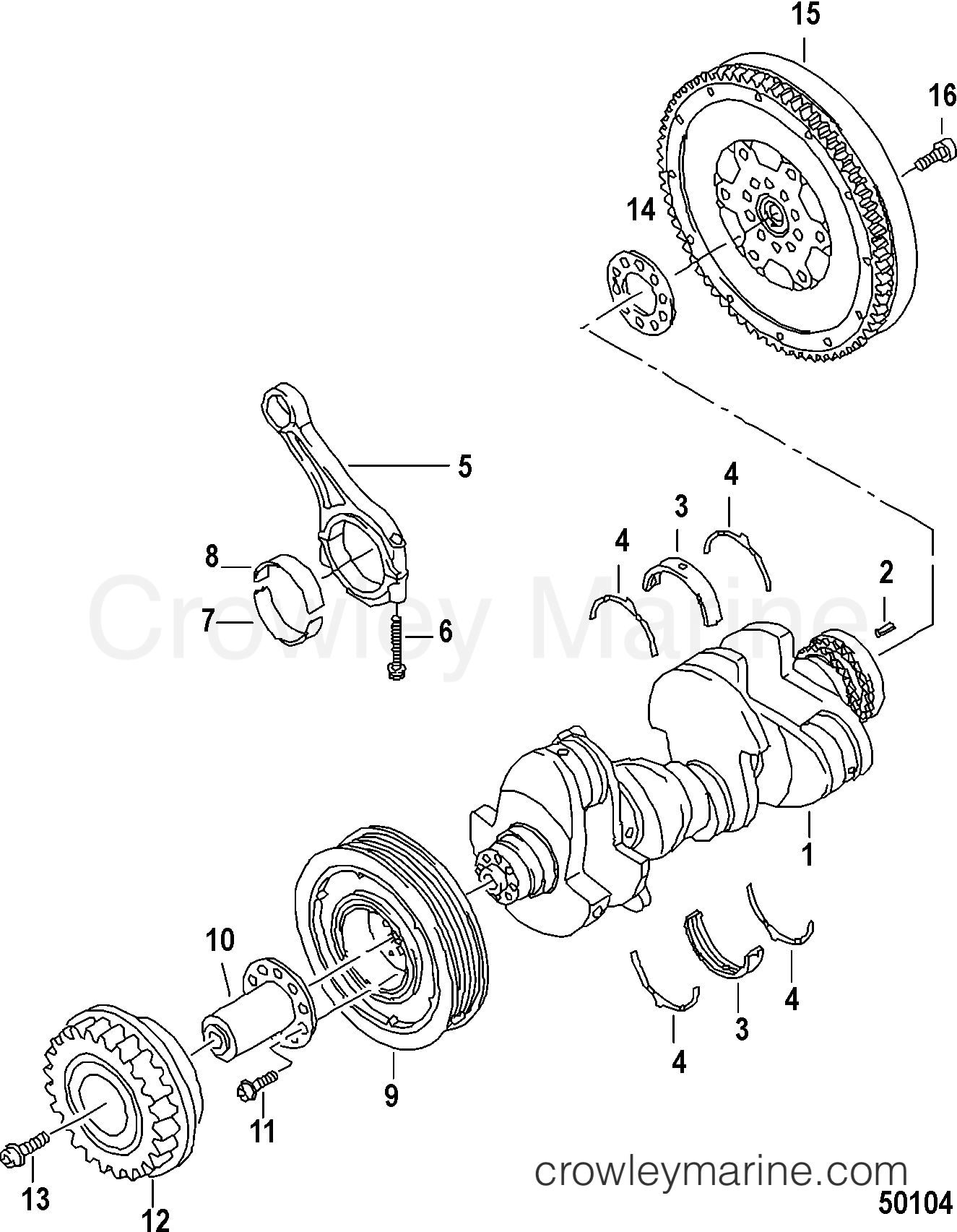 Engine Components Crankshaft Connecting Rod Bearings