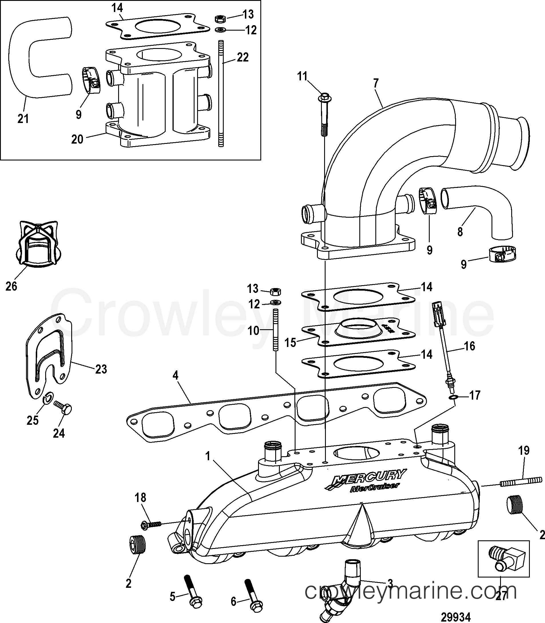 Exhaust Manifold Elbow And Riser