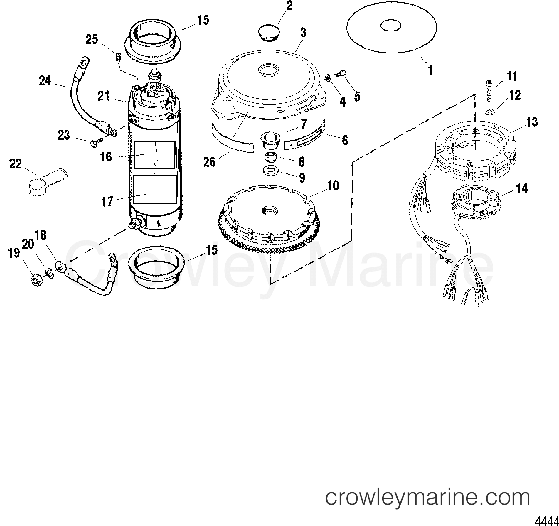 Electrical Components Flywheel Starter