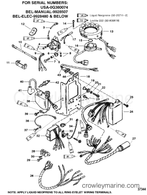 ELECTRICAL COMPONENTS(1)  1994 Mariner Outboard 30 [ELO