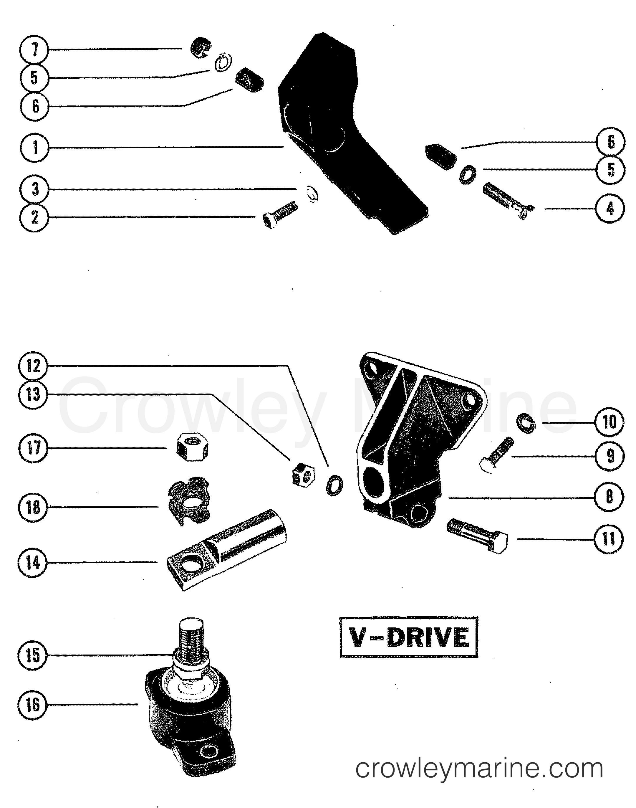 Transmission And Engine Mounting V Drive