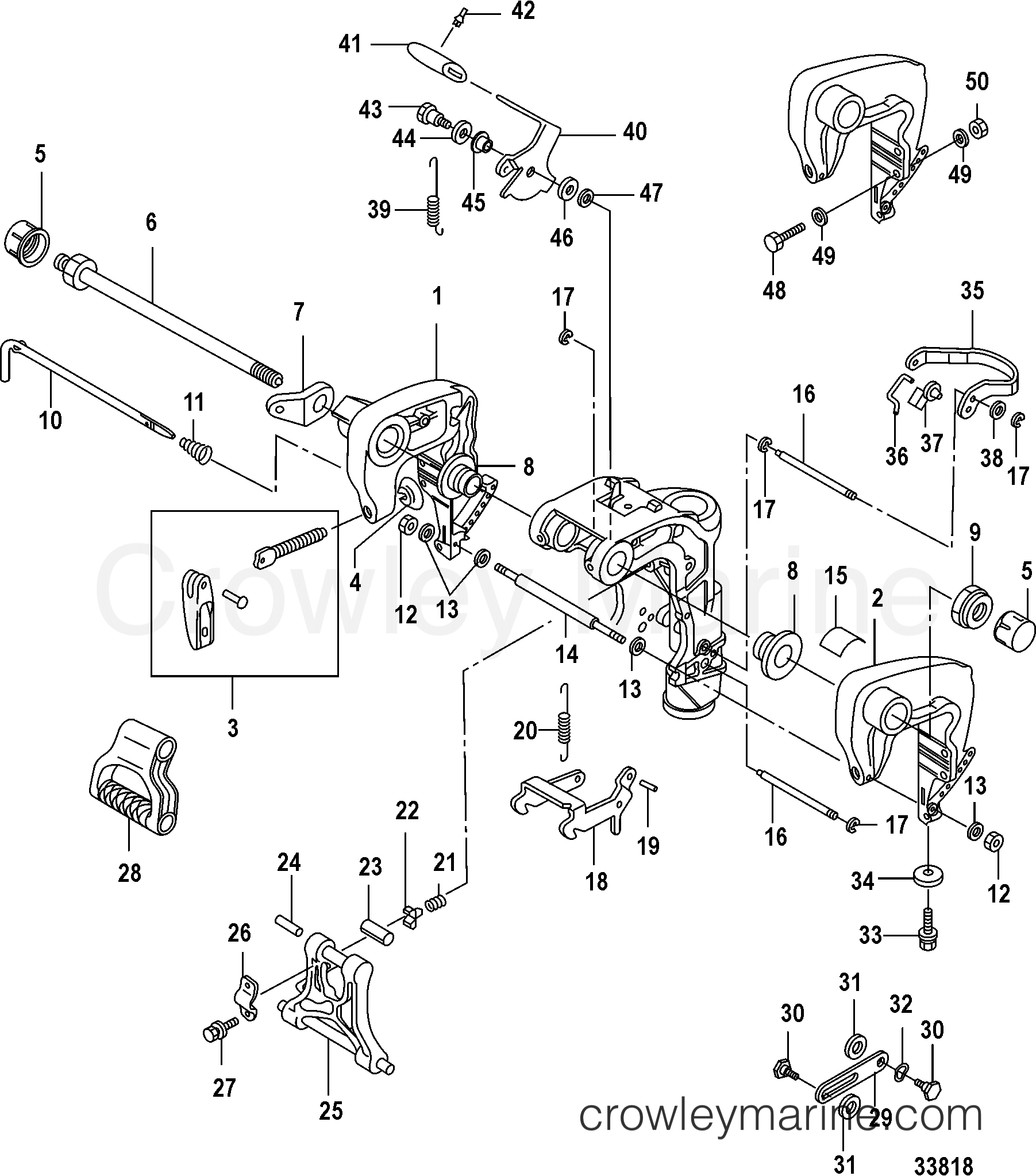 Clamp Brackets Manual Tilt