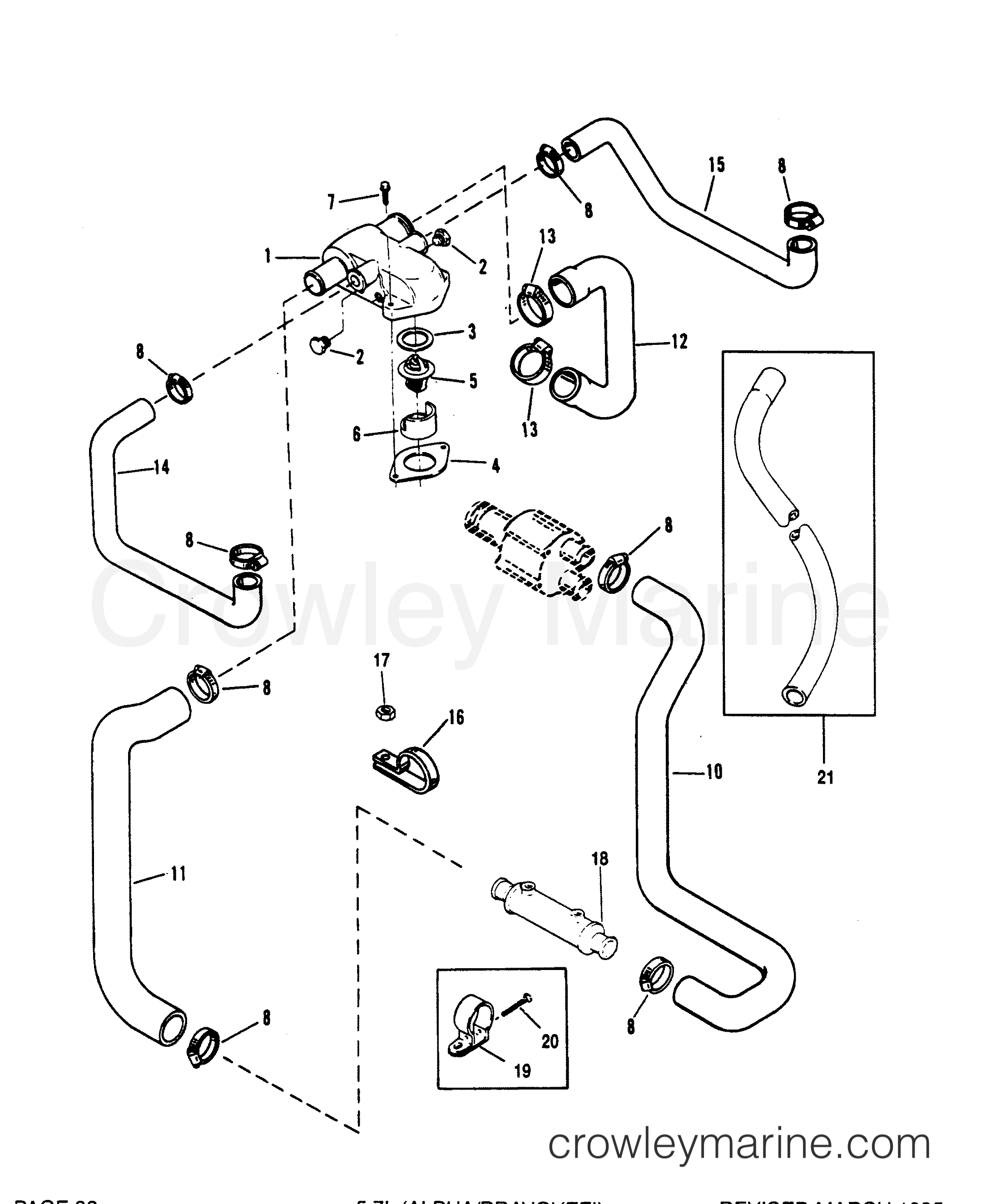 Mercruiser 5 7 Cooling System Diagram